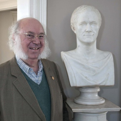 Myron Magnet and Alexander Hamilton at Hamilton Grange, 2013. Photo © Kevin Daley, National Parks of New York Harbor
