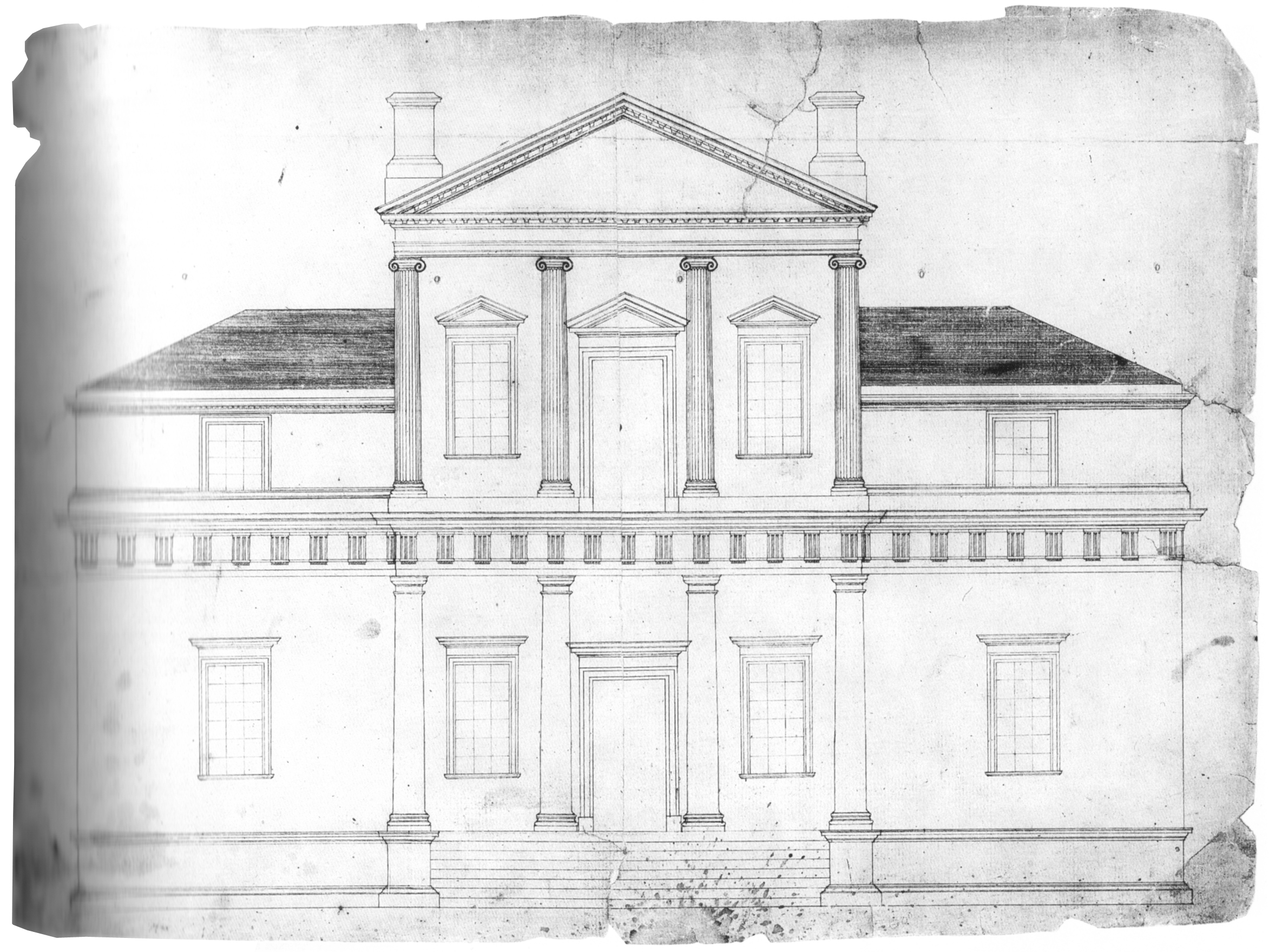 Jefferson's first sketch for Monticello