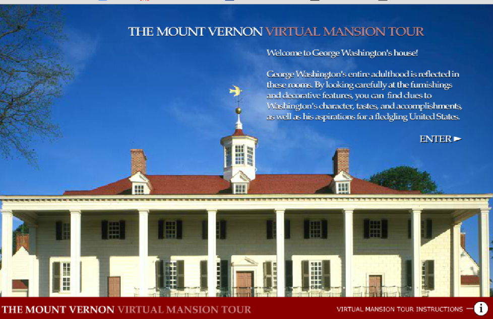 Mount vernon virtual tour cover
