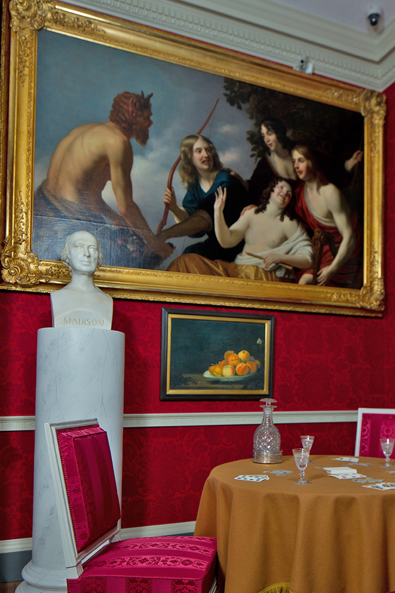 One of Madison's old master paintings in the drawing room
